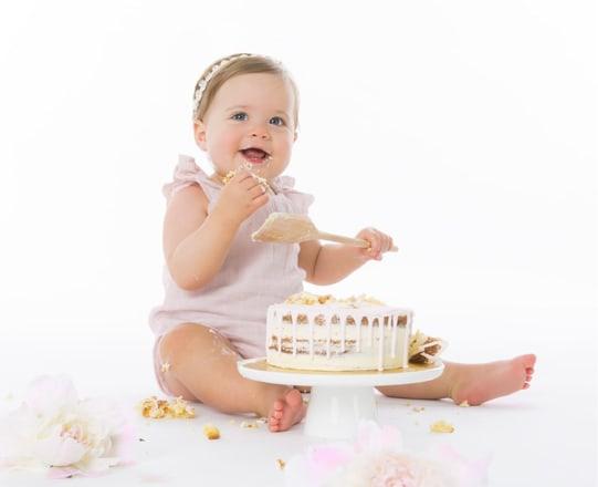 Cake Smash Baby Thumb